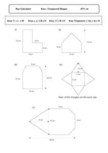 Area Compound Shapes Worksheet