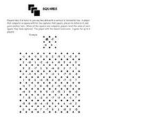 Squares: Adding Integers Worksheet