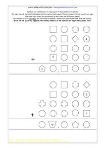 Symbol Puzzles for Math Lesson Plan