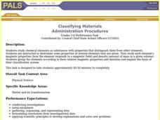 Classifying Materials Lesson Plan