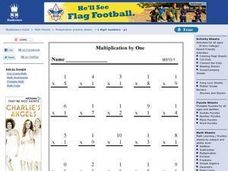 Multiplication By One Worksheet