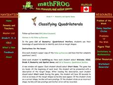 Classifying Quadrilaterals Lesson Plan