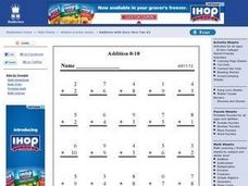 Addition 0-10 Worksheet