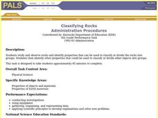Classifying Rocks Lesson Plan