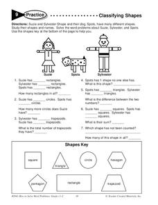 Classifying Shapes Worksheet