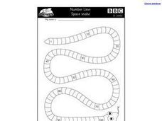 Number Line Snake Worksheet