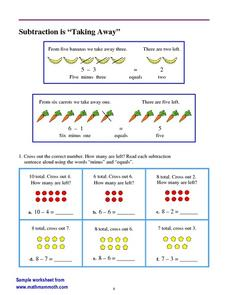 Subtraction is 'Taking Away' Worksheet