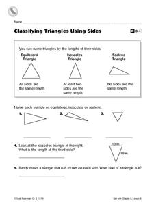 Classifying Triangles Using Sides Worksheet