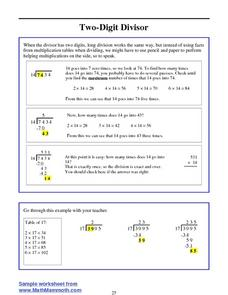 Two-Digit Divisor Lesson Plan