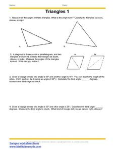 Triangles 1 Worksheet
