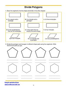 Divide Polygons Worksheet