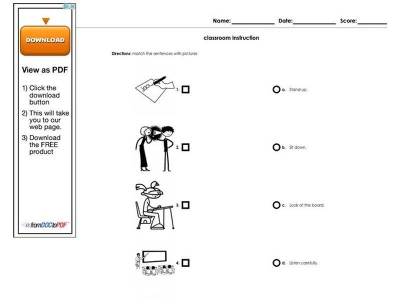 classroom instructions worksheet for higher ed lesson planet. Black Bedroom Furniture Sets. Home Design Ideas