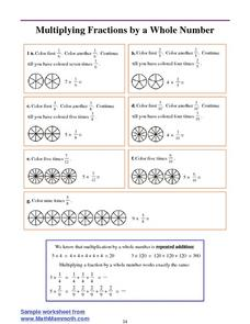 Multiplying Fractions by a Whole Number Worksheet