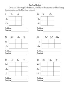 The Box Method Worksheet