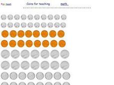 Coins for teaching Worksheet