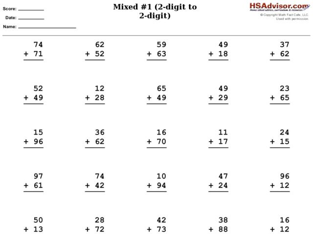 mixed 1 adding 2 digit numbers with carrying worksheet for 2nd 3rd grade lesson planet. Black Bedroom Furniture Sets. Home Design Ideas