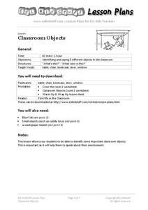 Classroom Objects Lesson Plan