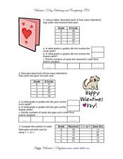 Valentine's Day Ordering And Comparing (C) Worksheet