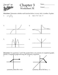 Chapter 3 - Worksheet 3E - Functions Worksheet