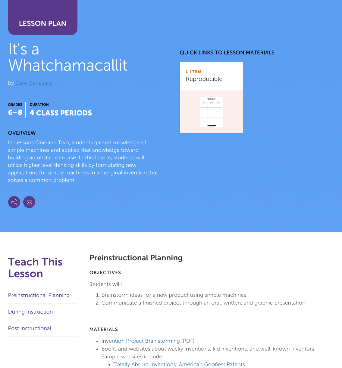 It's a Whatchamacallit Lesson Plan