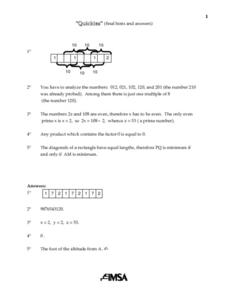 Quickies Final Hints And Answers Lesson Plan