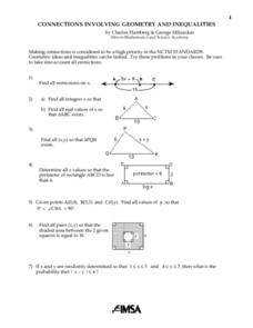 Connections Involving Geometry And Inequalities Lesson Plan