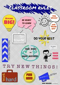 Classroom Rules Printables & Template