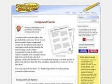 Create a Compound Events Worksheet Worksheet