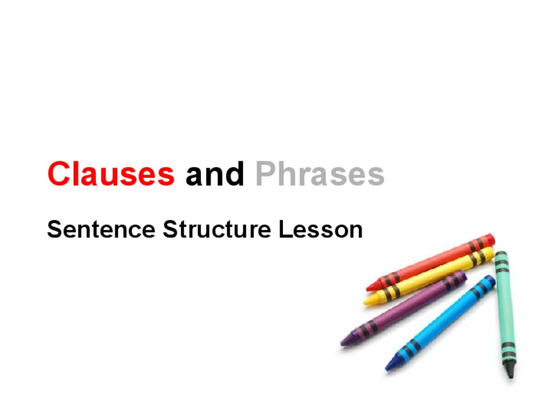 Clauses and Phrases Presentation