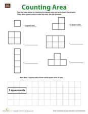 Counting Area Worksheet
