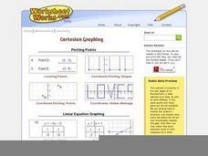 Cartesian Graphing Worksheet