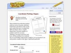 Coordinate Plotting: Shapes Worksheet