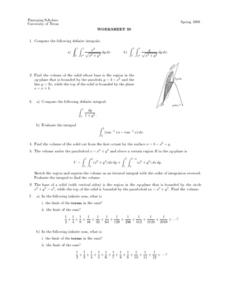 Worksheet 30 - Definite Integrals Lesson Plan