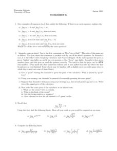 Worksheet 34 - Sequence Lesson Plan