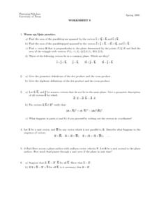 Worksheet 8 - Vectors Lesson Plan