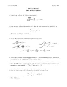 Worksheet 9 Practice Test 1 Worksheet