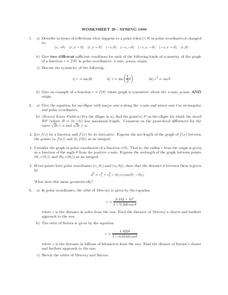 Worksheet 29 Spring 1999 Worksheet