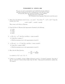 Worksheet 19-Spring 1996 Lesson Plan