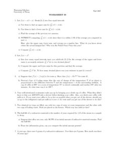 Worksheet 30 - Intervals Lesson Plan