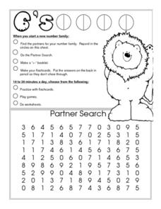 6's--Number family Worksheet