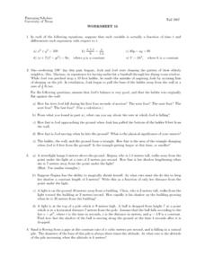 Worksheet 15 - Differentiation Lesson Plan