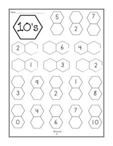 10's--Addition Equations Worksheet