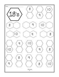 Number 18--Addition Worksheet