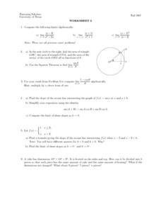 Worksheet Five - Limits Lesson Plan