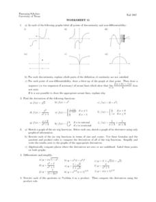 Worksheet 11 - Points of Discontinuity Lesson Plan