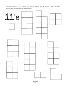 Partners for 11's Worksheet