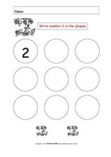 Number Printing: 2  Worksheet