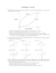 Worksheet 3: Graphing Speed and Time Lesson Plan