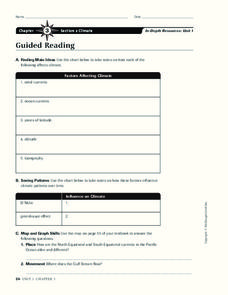 Climate Worksheet