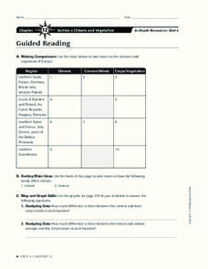 Climate and Vegetation Worksheet